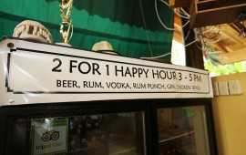 2 for 1 Happy Hours